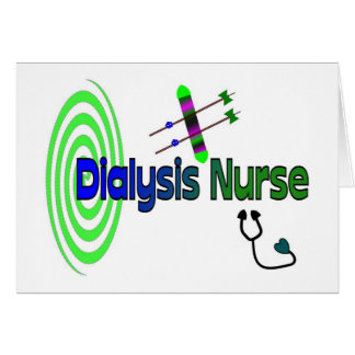 """""""Dialysis Nurse"""" Unique graphics Gifts Greeting Card"""