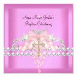 Diamant blanc de perle d'argent rose de diadème de carton d'invitation  13,33 cm