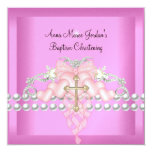 Diamant blanc de perle d'argent rose de diadème de invitations personnalisées
