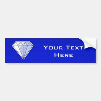 Diamant bleu autocollant de voiture