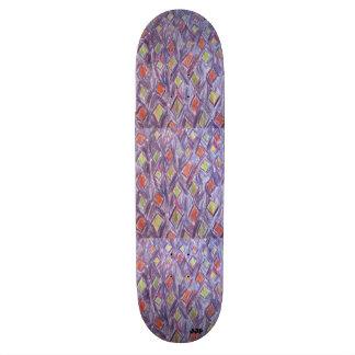 Diamant coloré skateboards cutomisables