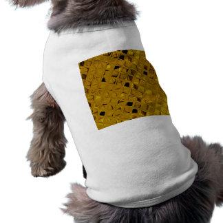 Diamant Girly métallique brillant d'or jaune T-shirt Pour Animal Domestique
