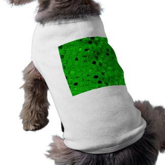 Diamant métallique brillant impertinent de vert ve manteau pour animal domestique