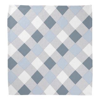 Diamants bleus et blancs foulard