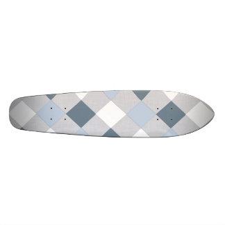 Diamants bleus et blancs planche à roulette