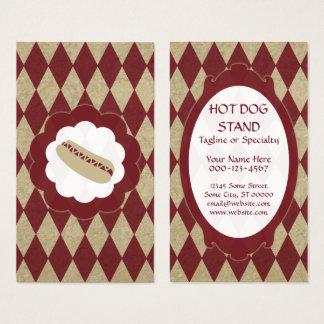 diamants de hot-dog cartes de visite