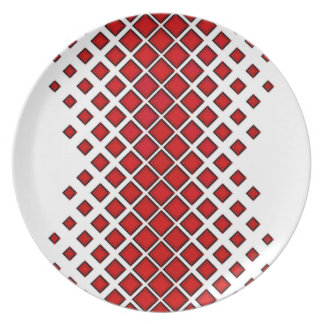 Diamomds Large to Small Red Plate