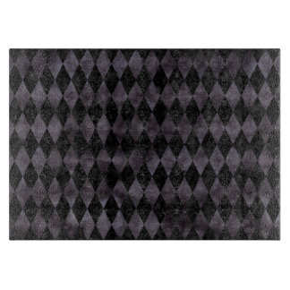 DIAMOND1 BLACK MARBLE & BLACK WATERCOLOR CUTTING BOARD