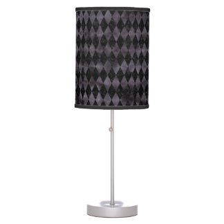 DIAMOND1 BLACK MARBLE & BLACK WATERCOLOR TABLE LAMP