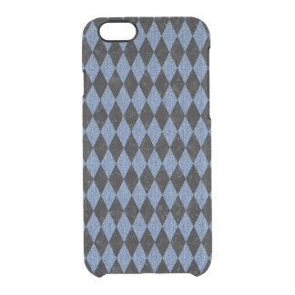 DIAMOND1 BLACK MARBLE & BLUE DENIM CLEAR iPhone 6/6S CASE
