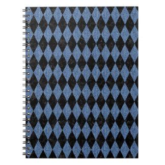 DIAMOND1 BLACK MARBLE & BLUE DENIM NOTEBOOKS