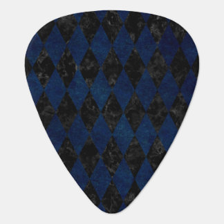 DIAMOND1 BLACK MARBLE & BLUE GRUNGE GUITAR PICK