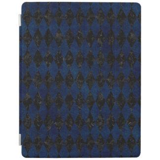 DIAMOND1 BLACK MARBLE & BLUE GRUNGE iPad COVER
