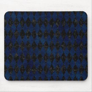 DIAMOND1 BLACK MARBLE & BLUE GRUNGE MOUSE PAD