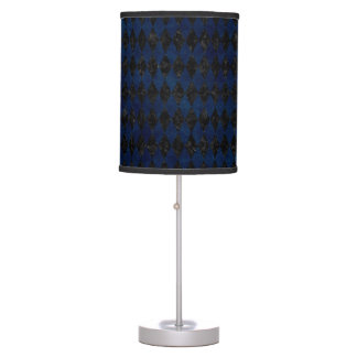 DIAMOND1 BLACK MARBLE & BLUE GRUNGE TABLE LAMP