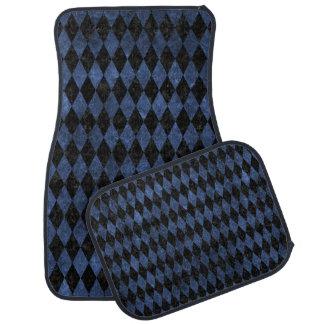 DIAMOND1 BLACK MARBLE & BLUE STONE CAR MAT