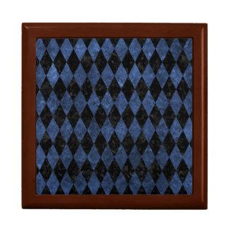 DIAMOND1 BLACK MARBLE & BLUE STONE GIFT BOX