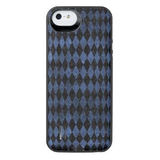 DIAMOND1 BLACK MARBLE & BLUE STONE iPhone SE/5/5s BATTERY CASE