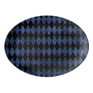 DIAMOND1 BLACK MARBLE & BLUE STONE PORCELAIN SERVING PLATTER