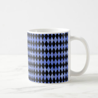 DIAMOND1 BLACK MARBLE & BLUE WATERCOLOR COFFEE MUG