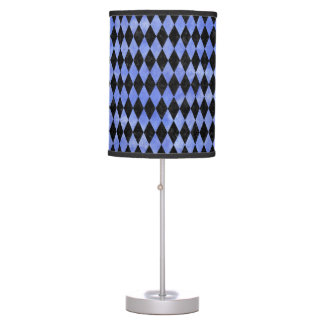 DIAMOND1 BLACK MARBLE & BLUE WATERCOLOR TABLE LAMP