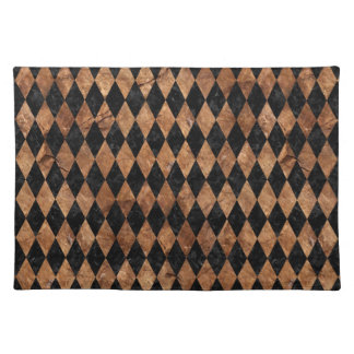 DIAMOND1 BLACK MARBLE & BROWN STONE PLACEMAT