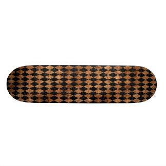 DIAMOND1 BLACK MARBLE & BROWN STONE SKATEBOARD DECK