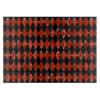 DIAMOND1 BLACK MARBLE & RED MARBLE CUTTING BOARD