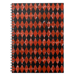 DIAMOND1 BLACK MARBLE & RED MARBLE NOTEBOOK