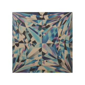 "Diamond 8""x 8"" Wood Wall Art"