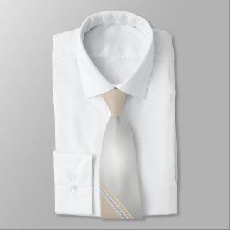 Diamond and Champagne-Colored Diagonally-Striped Tie