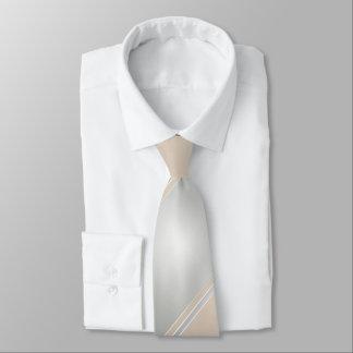 Diamond and Champagne-Colored Tie