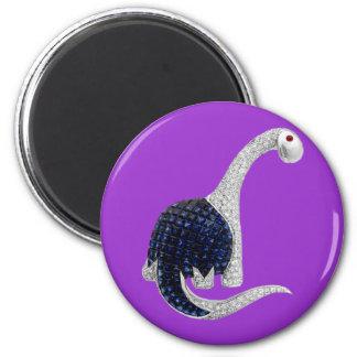 Diamond and Emerald Dinosaur Magnet