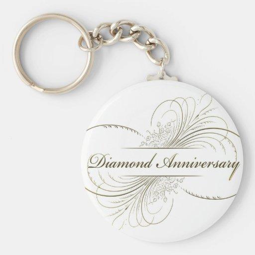Diamond anniversary key chain
