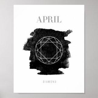 Diamond Birthstone April Poster