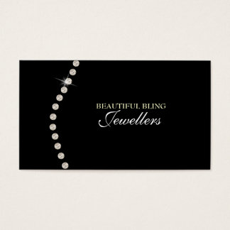 Diamond Bling Jewel Jewellery Store Business Card