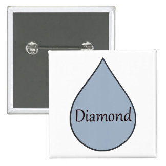 Diamond breastfeeding award badge. 2 years 2 inch square button