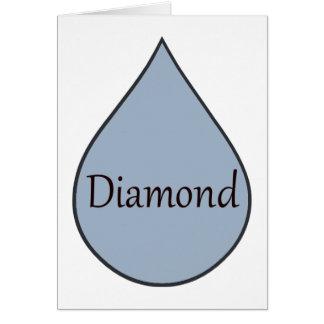 Diamond breastfeeding award card. 2 years card