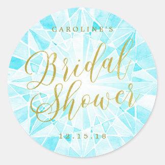 Diamond Bridal Shower Round Sticker