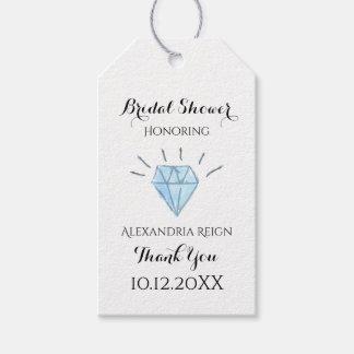 Diamond Bridal Shower Thank You Tags - Favor Tags