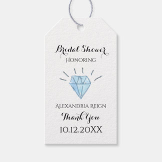 Diamond Bridal Shower Thank You Tags - Favor Tags Pack Of Gift Tags