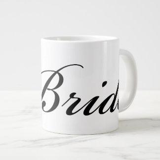 Diamond Bride Mug Black On White Jumbo Mug