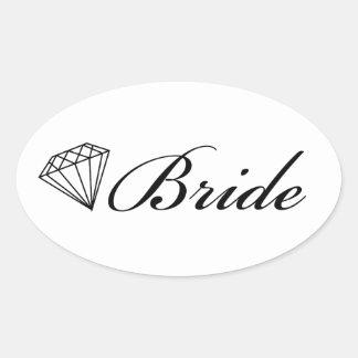Diamond Bride Sticker On White