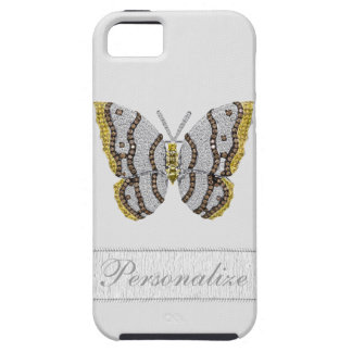 Diamond Butterfly Print Personalized iPhone 5 Case