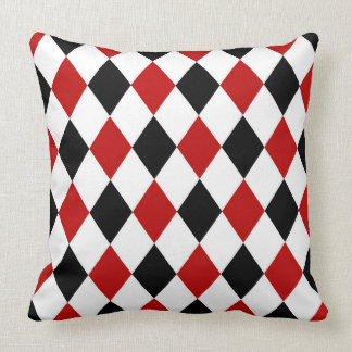 Diamond Casino pattern game room decor Throw Pillow