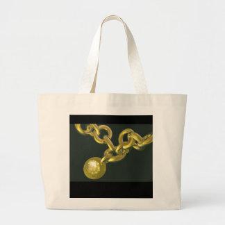 diamond chain canvas bag