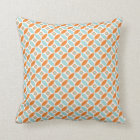 Diamond Circle Pattern Pillow - orange back