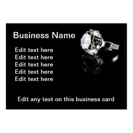 Diamond Closeup on black Business Cards