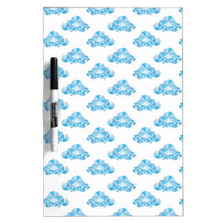 Diamond Clouds in the Sky Pattern Dry Erase Board