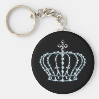 Diamond Crown Button Keychain